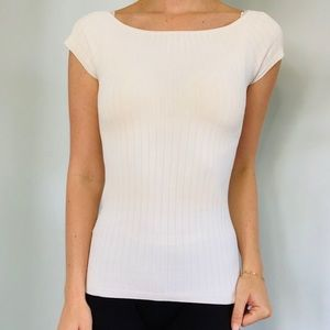 Ann Taylor Ribbed Fitted Top